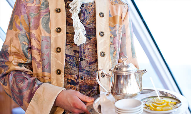 crystal cruises - on board accommodations - afternoon tea
